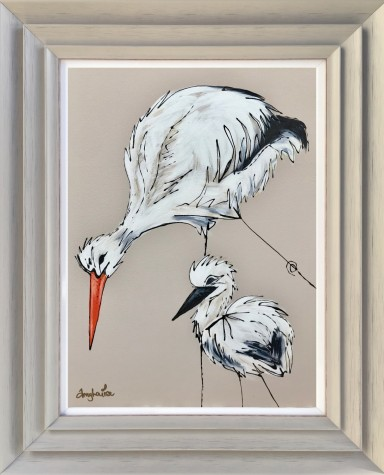 The Stork And Baby image
