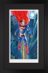 Superman: Man Of Tomorrow Paper – Framed image