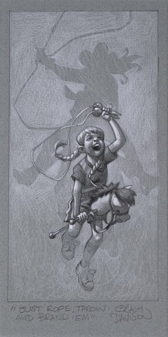 """Just Rope, Throw & Brand 'Em"" Sketch 