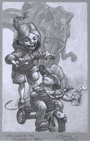 Keep Absolutely Still, Her Suspicion is Based on Movement Sketch | Craig Davison image