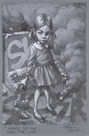 """Where Do Ya Draw The Line?"" Sketch 