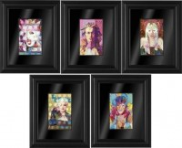 Eye Cons Set of 5 Framed Boxed Canvases image