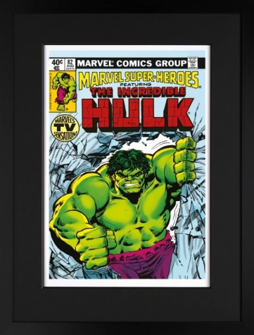 Signed Stan Lee The Incredible Hulk #82 Marvels TV Sensation Paper Framed image