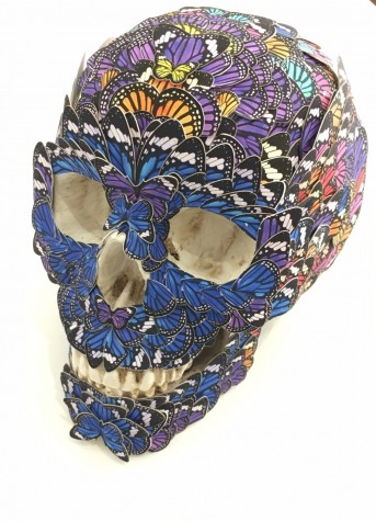 Butterfly Skull Sculpture image