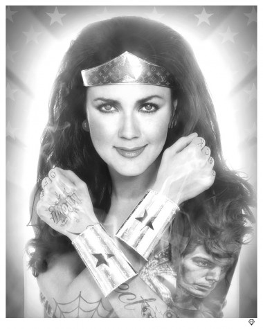 Wonder Woman Black & White image