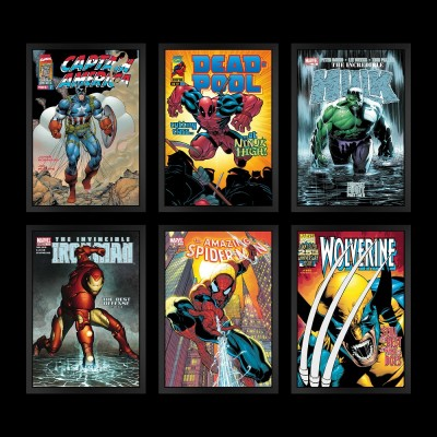 Marvel Superheroes 2018 - Set of 6 Boxed Canvas Graphics image