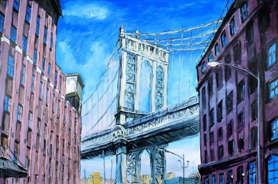 Manhattan Bridge, Downtown New York (2019) | Bob Dylan image