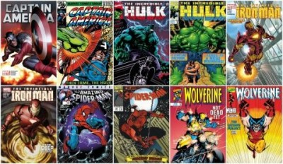 Deluxe Marvel Superheroes Set of 10 (2017) image