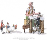 The BFG Has Breakfast With The Queen | Sir Quentin Blake image