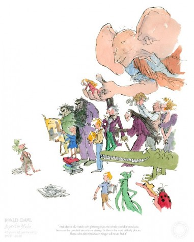 Roald Dahl and Quentin Blake 40th Anniversary image