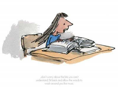 Sit Back and allow The Words to Wash Around | Quentin Blake image