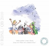 Action stations! James shouted | Quentin Blake VERY LOW STOCK image