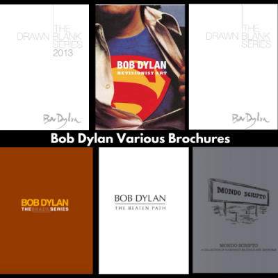Bob Dylan Brochures Various Years image