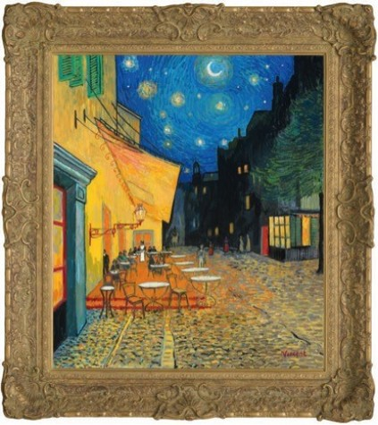 The Starry Night with Café Terrace, Place Du Forum  image