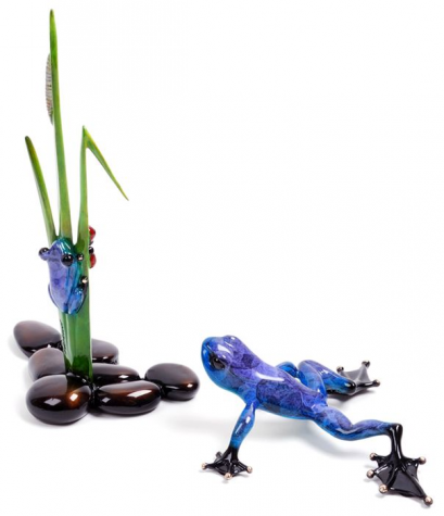 Dew Drop & Hop To It | Frogman Bronze pair image