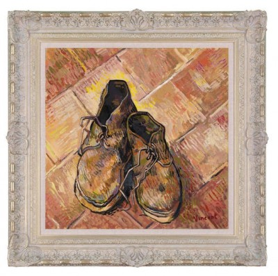 A Pair Of Old Shoes 1888 (In The Style Of Vincent Van Gogh) image