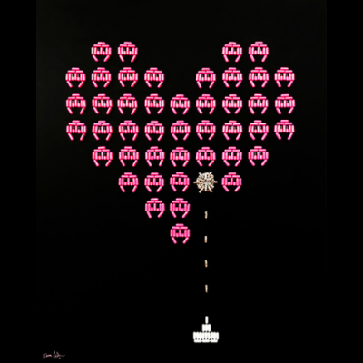 Space Invaders Love Struck image