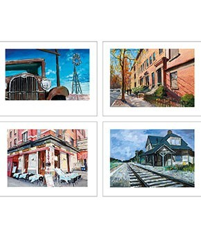 The Beaten Path (2019) Medium Set of 4 | Bob Dylan image